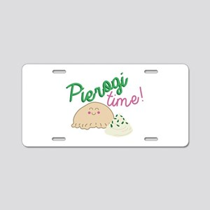 Pierogi Time Aluminum License Plate