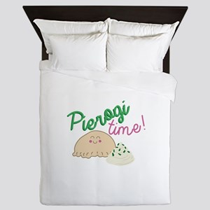 Pierogi Time Queen Duvet