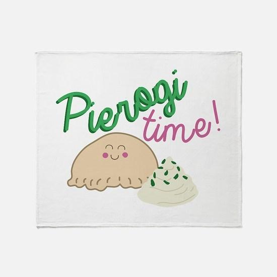 Pierogi Time Throw Blanket