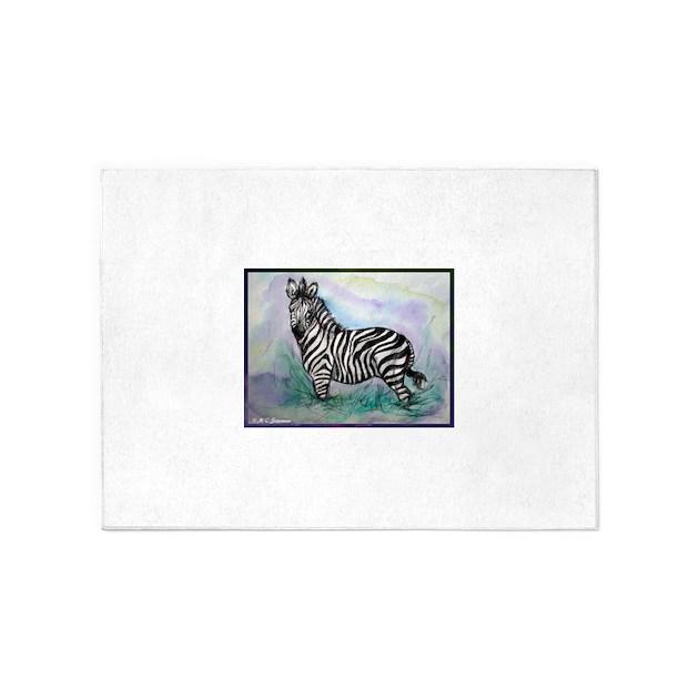Zebra Sculpture Area Rug: Zebra! Wildlife Art! 5'x7'Area Rug By McZebra2