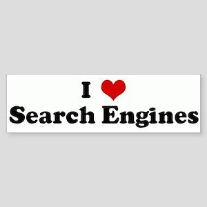 I Love Search Engines Bumper Sticker