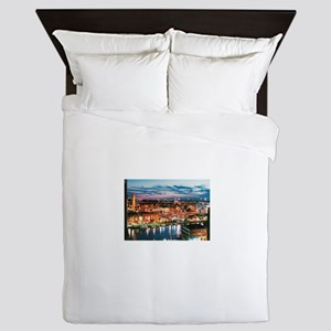 Cleveland Sunset Reflections Queen Duvet