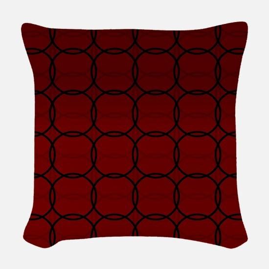 Nantucket Red Woven Throw Pillow