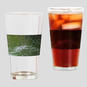 Alligator and Rain Drops Drinking Glass