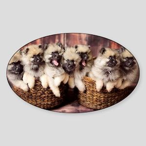 Puppies in baskets Sticker