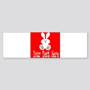 Personalizable Rabbit Bumper Sticker