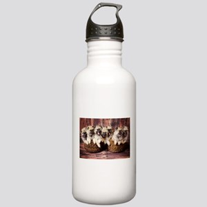 Puppies in baskets Stainless Water Bottle 1.0L