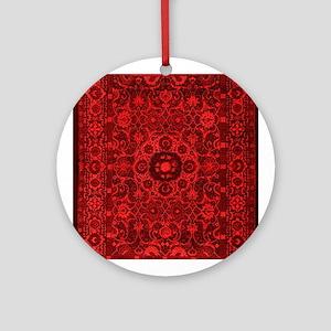Oriental Rug Red Round Ornament
