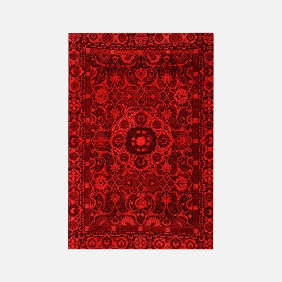 Oriental Rug Red Rectangle Magnet