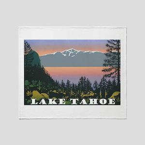 Mt. Tallac Lake Tahoe Throw Blanket