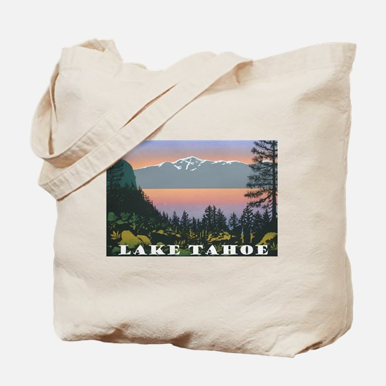 Mt. Tallac Lake Tahoe Tote Bag