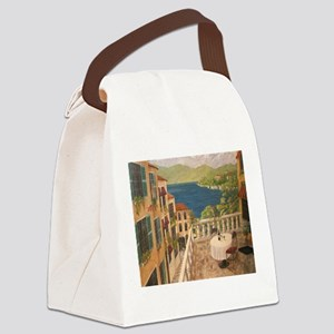 Lake Como Canvas Lunch Bag