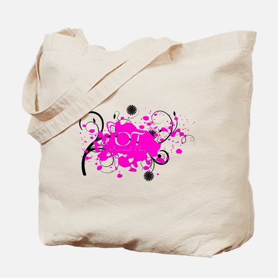 Pink Splatter OT Tote Bag