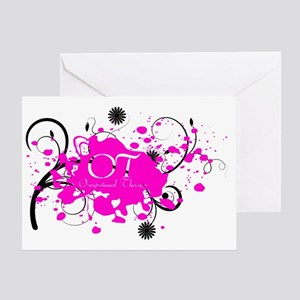 Pink Splatter OT Greeting Card