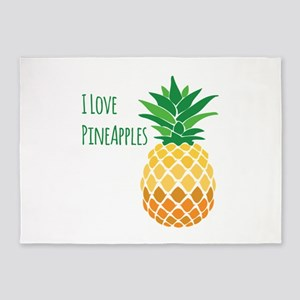 Love Pineapples 5'x7'Area Rug