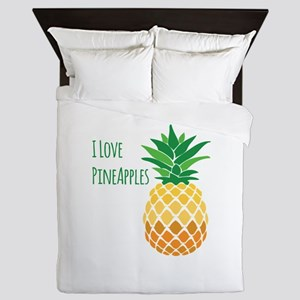 Love Pineapples Queen Duvet