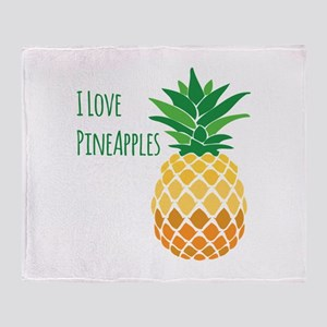 Love Pineapples Throw Blanket