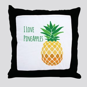 Love Pineapples Throw Pillow