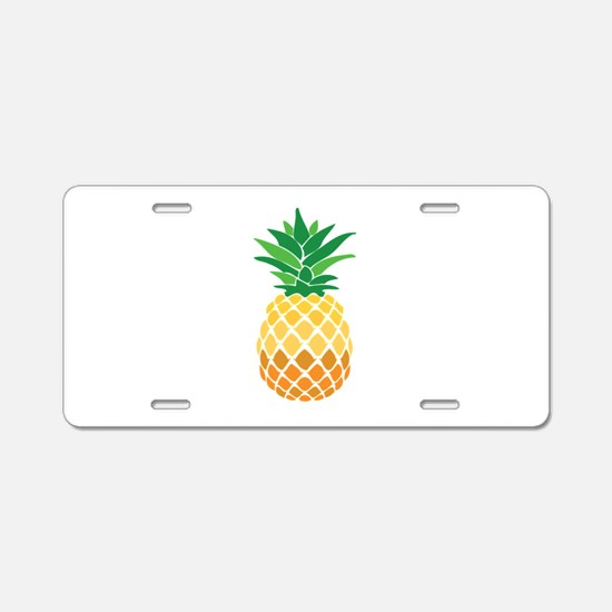 Pineapple Aluminum License Plate