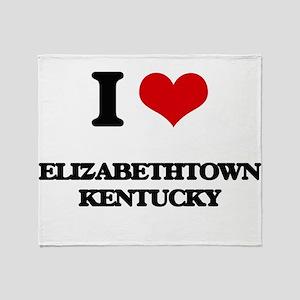 I love Elizabethtown Kentucky Throw Blanket