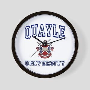 QUAYLE University Wall Clock