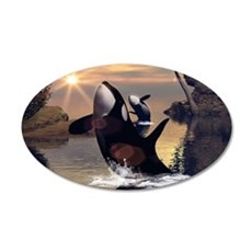 Beautiful orcas Wall Decal