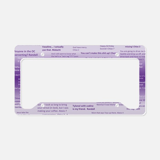 Family Quotes License Plate Holder
