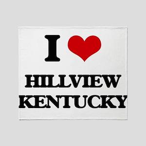 I love Hillview Kentucky Throw Blanket