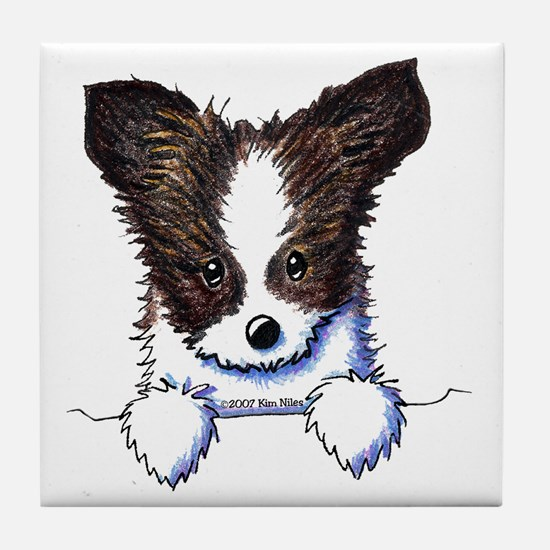 Pkt Papillon Puppy Tile Coaster