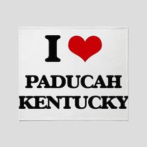 I love Paducah Kentucky Throw Blanket