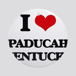 I love Paducah Kentucky Ornament (Round)