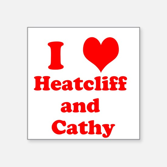 I heart Heathcliff and Cathy Sticker