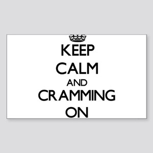 Keep Calm and Cramming ON Sticker