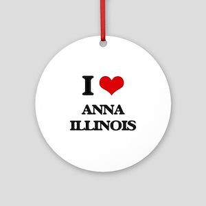 I love Anna Illinois Ornament (Round)