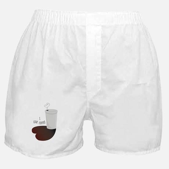 I Love Coffee Boxer Shorts