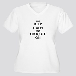 Keep Calm and Croquet ON Plus Size T-Shirt