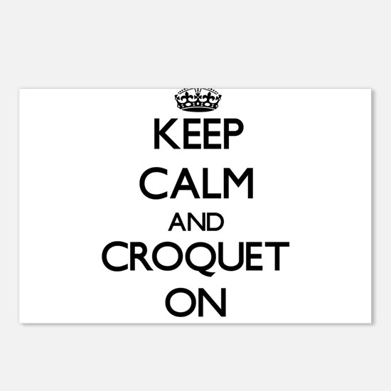 Keep Calm and Croquet ON Postcards (Package of 8)