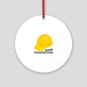 Under Construcion Ornament (Round)