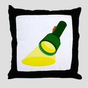 Flashlight Throw Pillow