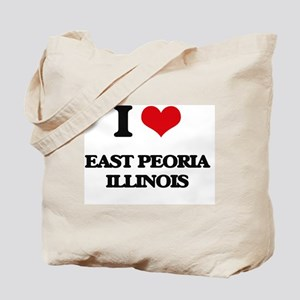 I love East Peoria Illinois Tote Bag