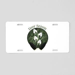 Deer Season Aluminum License Plate
