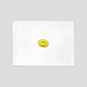 Smiley Lemon Face 5'x7'Area Rug