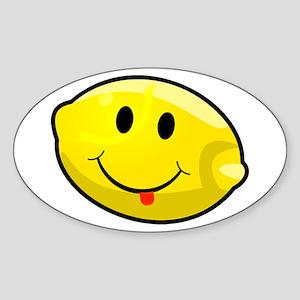 Smiley Lemon Face Sticker