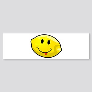 Smiley Lemon Face Bumper Sticker