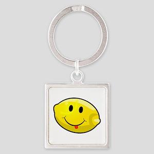 Smiley Lemon Face Keychains