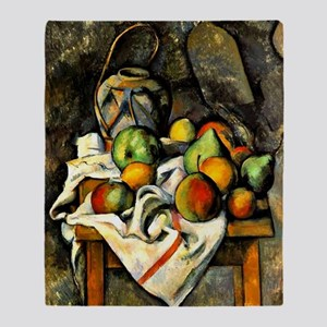 Cezanne - Ginger Jar and Fruit Throw Blanket
