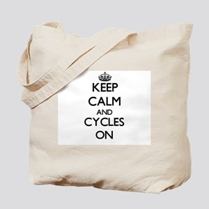Keep Calm and Cycles ON Tote Bag