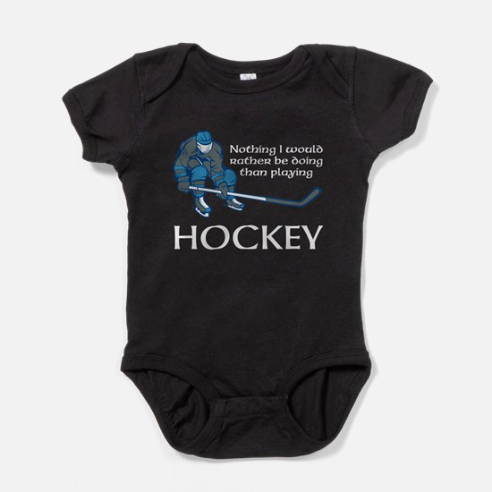 Playing Hockey Baby Bodysuit
