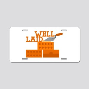Well laid Aluminum License Plate