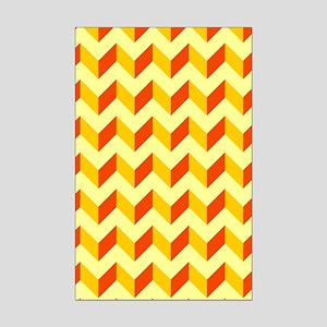 Chevron Patchwork Pattern Mini Poster Print